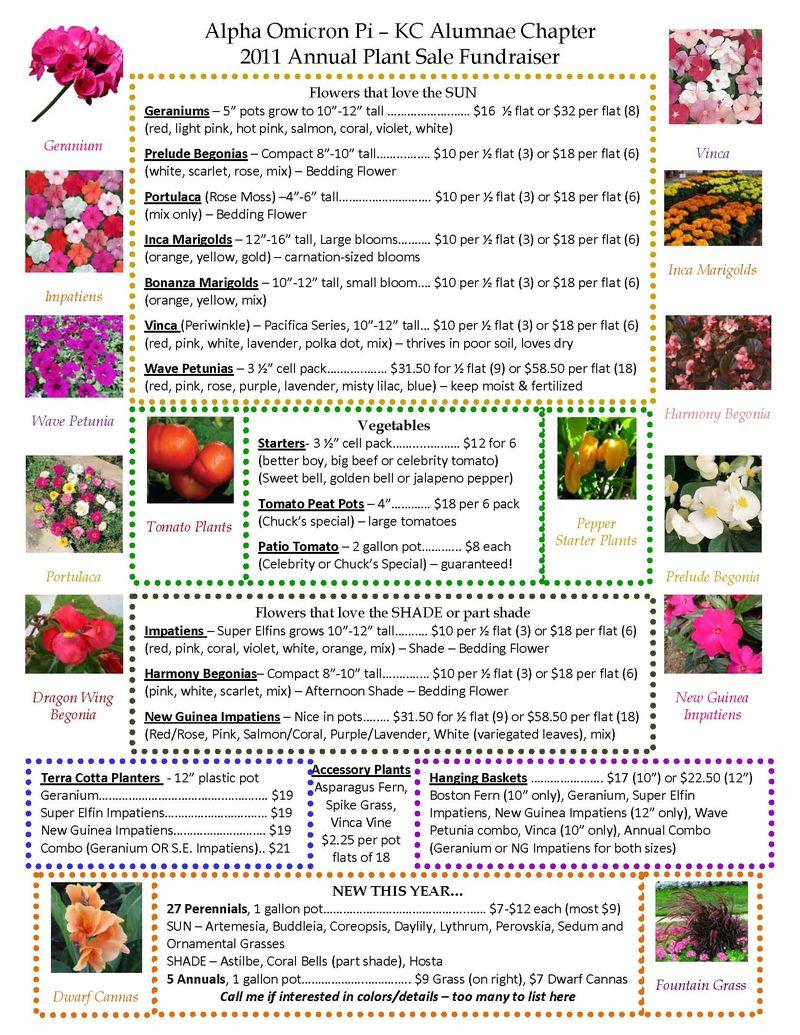 2011 Flower Sale